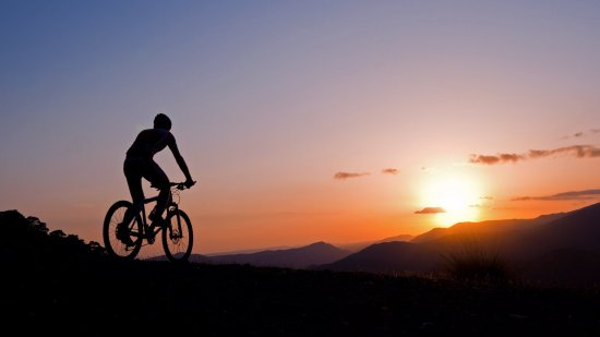 cyprus riding bike sunset
