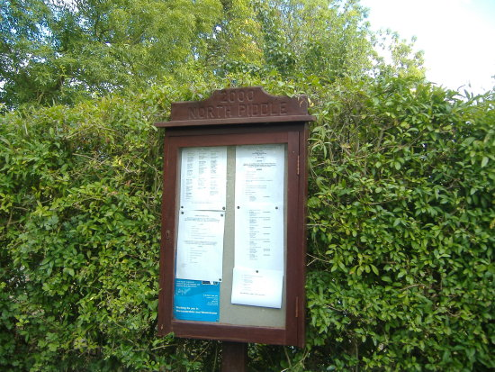 village noticeboard Worcestershire