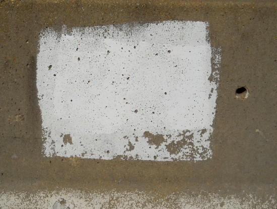 concrete paint white