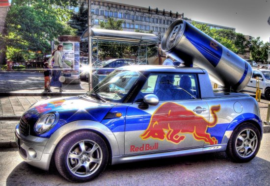 bmw mini redbull hdr photomatix photomanipulation Pleven Bulgaria