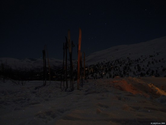 Landscape Norway Snow Night Mjolfjellet