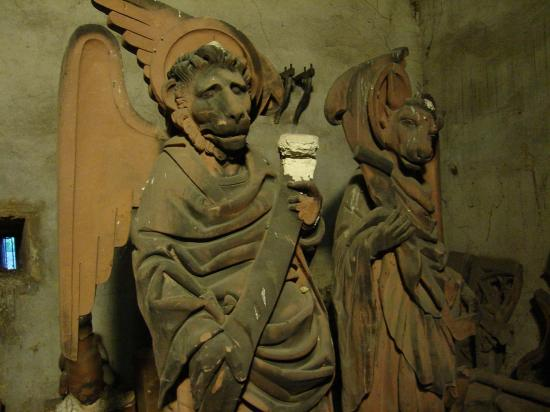 creepy sculptures underground in strasbourg