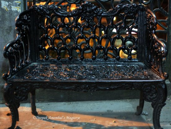 wrought iron seat mussoorie india