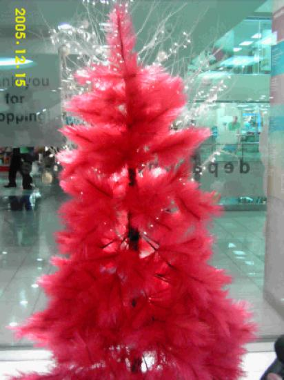 Orange red xmas tree