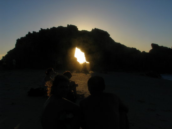 Hole Beach Sunset Rock Jericoacoara Ceara Brazil