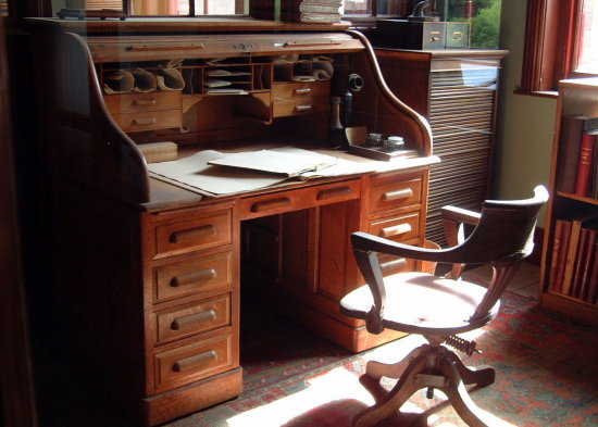 3/6 Preserved office at the Jackfield Tile Museum