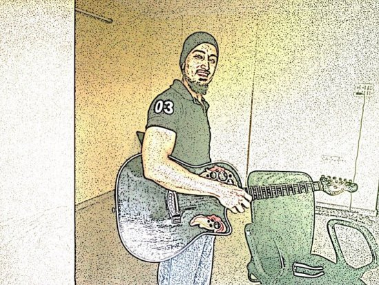 sketch pictures threshold painting guitar shahid mustafa shaikh