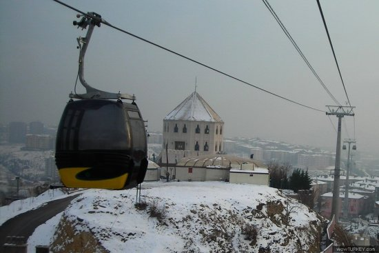 Ankara Turkey kecioren teleferic ropeway snow winter