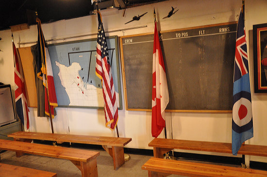 americanairpower museum ww2 flags room