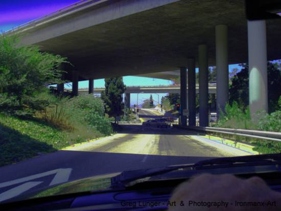 freeways cars manipulated plants