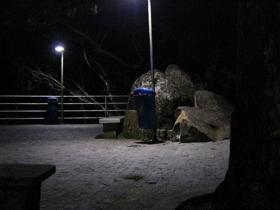 floripa brazil morro cruz night garbage stone