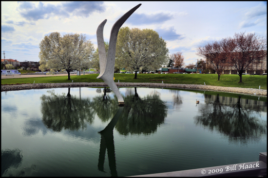 stlouis missouri us usa landscape spring reflection hdr illusionFriday 032609