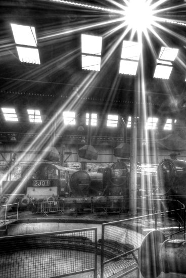 HDR Transport Locomotives Black and White