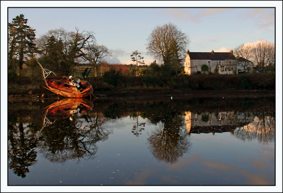reflection boat ramelton donegal ireland