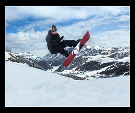 Snowboarding Livigno Italy Landscape Winter Snow Mountain