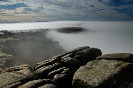 Peak District Derbyshire Mist Curbar
