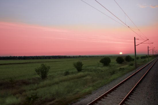 railroad train fields nikon bulgaria sigma morning sunrise
