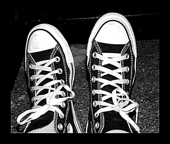 shoes converse black tied