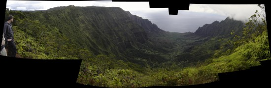 kalalau valley kauai hawaii nature hike panorama
