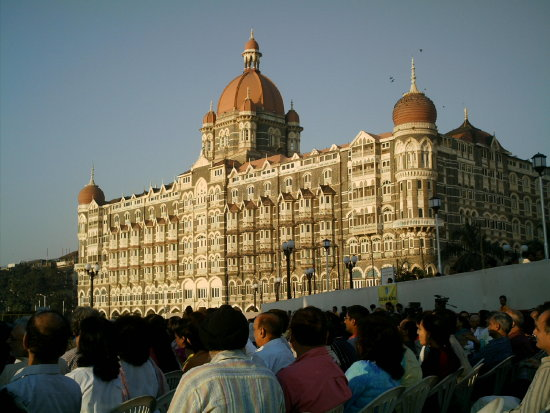 The Taj Hotel ...at Gateway...on a morning...we were there for a classical rendition of music...