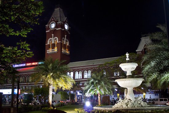 railwaystation central clocktower chennai