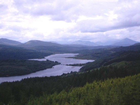 Loch Garry map of scotland that looks like scotland