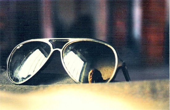 SelfPortrait sunglasses reflection