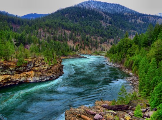 Kootnai River in Montana, shot while traveling for my flight to Alaska