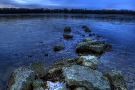 colours light danube river landscape HDR