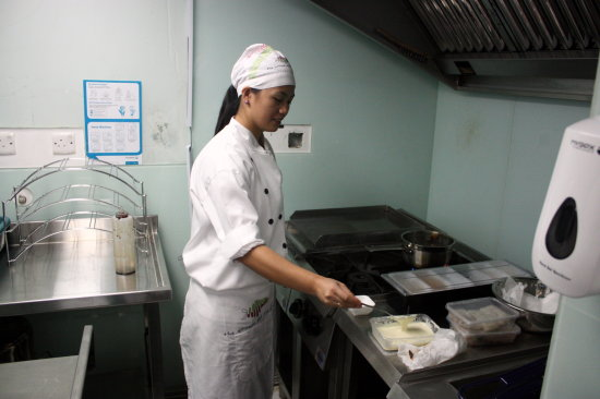 restaurant kitchen chef the lettuce and the fish