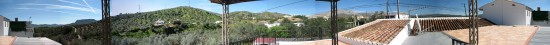 Panorama full roof terrace view home andalucia spain