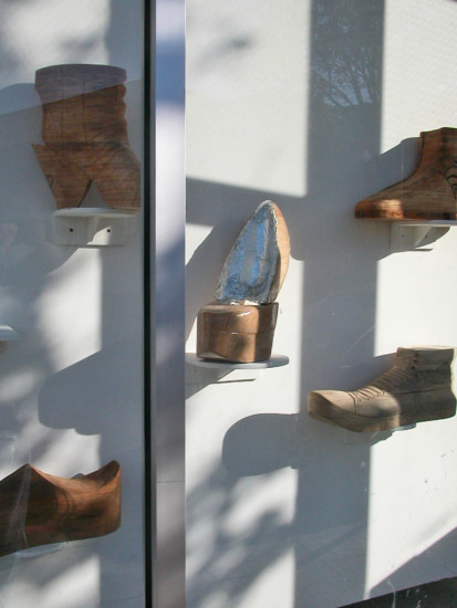 sculpture wood shoes oaklandartfph streetart