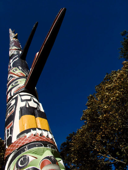 worlds tallest totem pole beaconHillPark Victoria BC 127feet 7inches