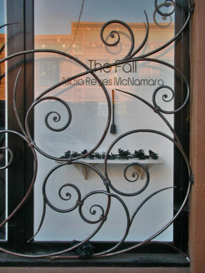 art gallery window oaklandartfph ironwork reflections architecture