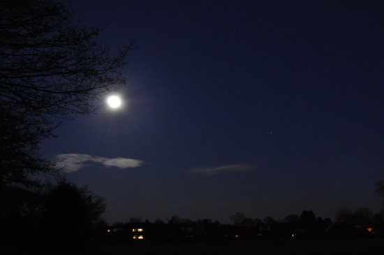 night sky moon kmphotography