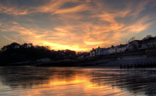 amroth sunset hdr