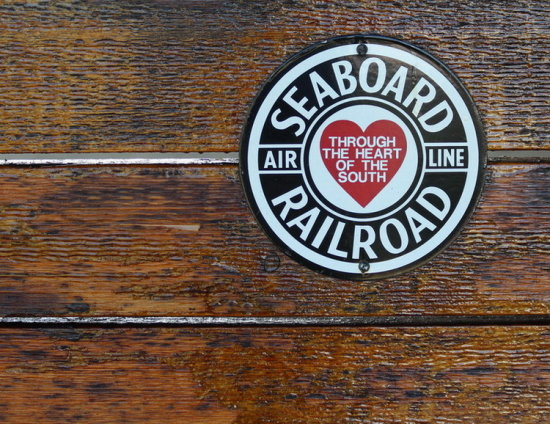 sign Seaboard railroad