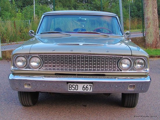Front Ford Fairlane 500 Sports Coupe 1963 Skane Sweden Billesholm