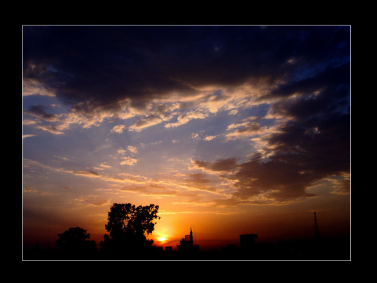 sunset jhelum pakistan clouds