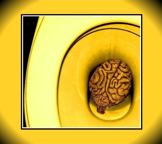 brain yellow abstract music keitology keit my series toilet cover