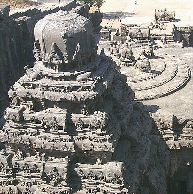 Rooftop of Ellora Temple