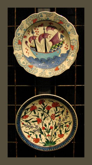 handpainted dishes turkey