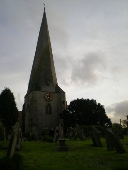 westbury on severn gloucestershire church tower spire