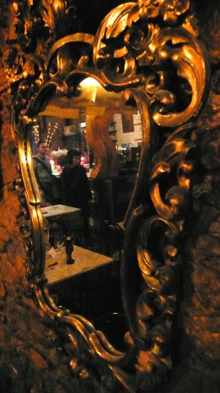 barcelona granja de gava night bar catalonia mirror