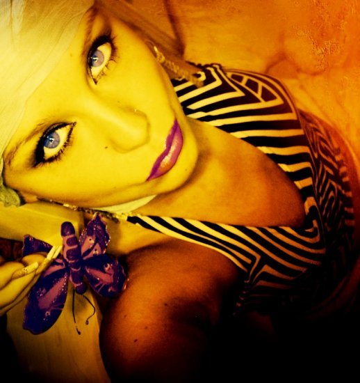 artistic portrait woman people sharp mad colours butterfly gold series ke