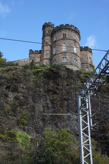 edinburgh castle railway