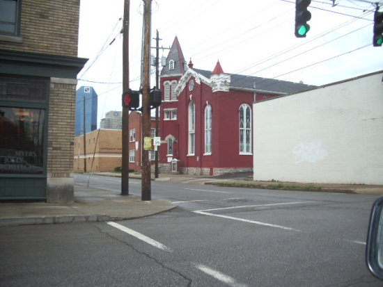 Red Church from a corner Lexington KY