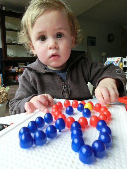 grandson child playing