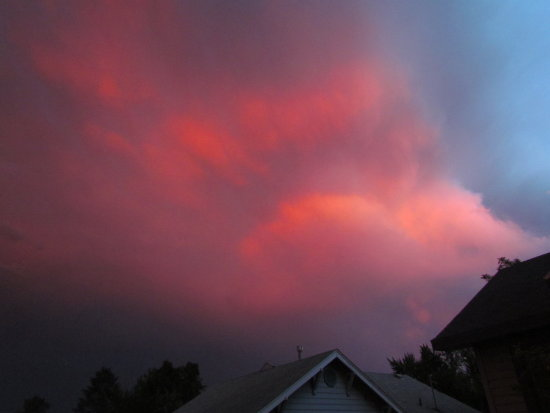 clouds sunset thunderstorm