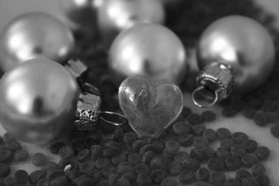 love heart christmas macro